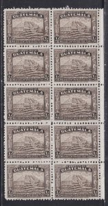 Guatemala Revenue Stamp, Block of Ten, NH