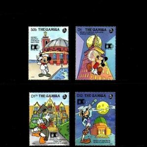 GAMBIA - 1992 - DISNEY - MICKEY - DONALD ++ COLUMBIAN EXPO MINT - MNH SET!