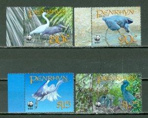 PENRHYN 2008 BIRDS #468-71...SET MNH...$5.75