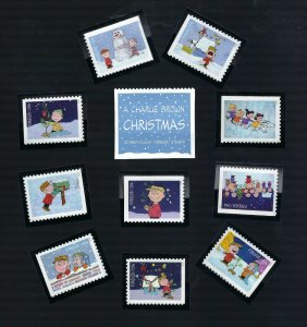 5021-5030 Charlie Brown Christmas ( Complete Set Nicely Mounted )  MNH
