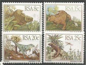 SOUTH AFRICA, 1982, MNH set, Karoo Fossils Scott 606-609