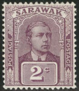 SARAWAK Scott 52 MH* 1923 no watermark CV $2.25