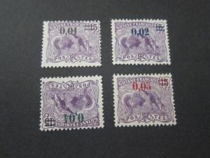 French Guiana 1922 Sc 94-7 set MH