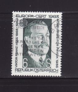 Austria 1245 Set U Viktor Franz Hess, Nobel Prize Physics