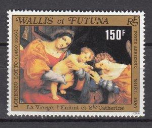 WALLIS ET FUTUNA SC# C105 CHRISTMAS - NOEL PAINTING BY LORENZO LOTTO - MNH