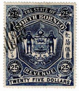 (I.B) British North Borneo Revenue : Duty Stamp $25 (State)