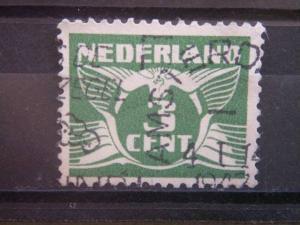 NETHERLANDS, 1927, used 3c, Scott 170, Gull