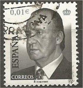SPAIN, 2008, used 1c, King Juan Carlos. Scott 3532