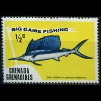 GRENADA GRENADINES 1975 - Scott# 41 Game Fish 1/2c NH