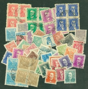 selection Brazil 1945-60 most used light duplication 40 stamps