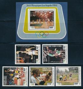 Comores Isl - Los Angeles Olympic Games MNH Sports Set (1984)