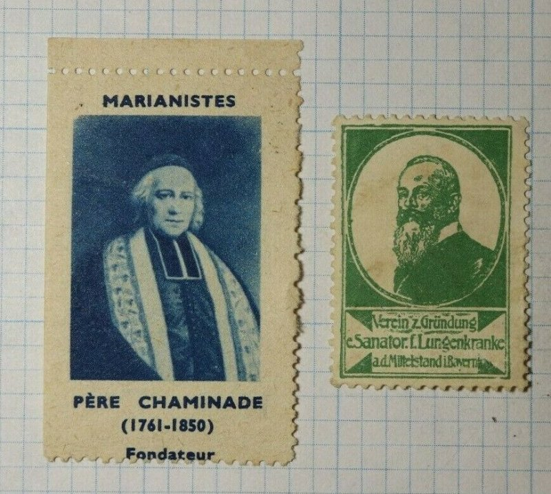 Marriage Father Chaminade Founder 1761-1850 France WW Charity Seal Poster Stamp