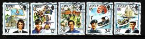 Jersey-Sc#356-60-used set-Int'l Youth Year-1985-