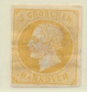 Hanover (German State, Hannover) Stamp Scott #22, Mint Hinge Remnants, Some G...