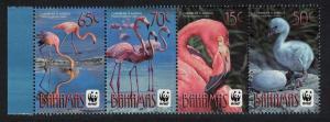 Bahamas WWF Flamingo Birds Strip of 4v SG#1616-1619