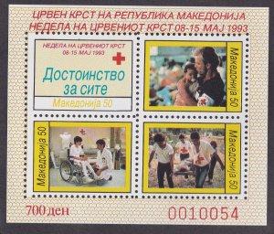 Macedonia # RA35a, Red Cross Week, Mint NH, 1/2 Cat.