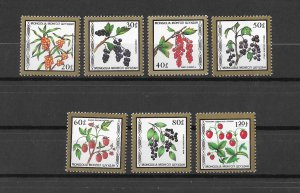 Mongolia MNH 1584-90 Fruit