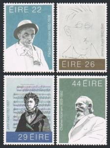 Ireland 521-524,MNH.Michel 468-471. Irish writers,composers,Portraits,1982.