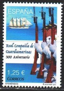 Spain. 2017. 5156. Spanish Navy sailing ship. MNH.