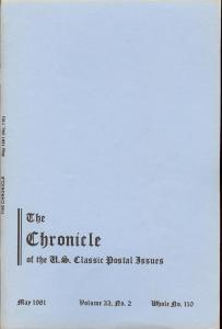 The Chronicle of the U.S. Classic Issues, Chronicle No. 110