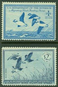 EDW1949SELL : USA 1948-55 Scott #RW15, 22 Mint Never Hinged. Catalog $145.00.