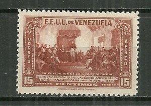 1940 Venezuela C142 Founding of the Pan-Am Union 50th Anniversary MNH