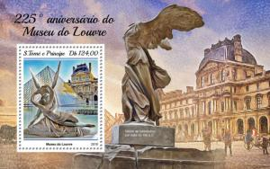 SAO TOME - 2018 - Opening of Louvre Museum - Perf Souv High Value Sheet - MNH