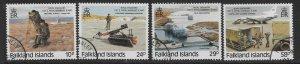 FALKLAND ISLANDS SG539/42 1987 ROYAL ENGINEERS SET FINE USED