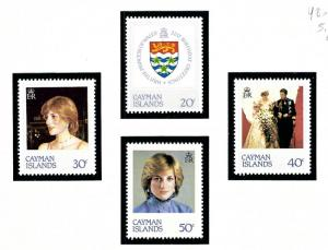 Cayman Is 486 89 MNH 1982 Princess Diana issue
