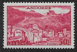 ANDORRA - FRENCH SC# 139  FVF/MOG 1955