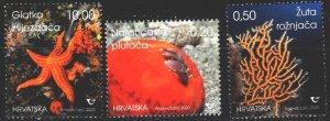 Croatia. 2020. Marine fauna, corals, starfish. MNH.