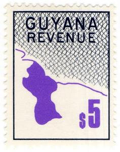 (I.B) British Guiana (Guyana) Revenue : Duty Stamp $5