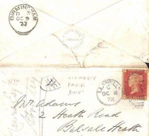 GB WALES *Stradey Park* Embossed Env Llanelly Penny Red Cover RUGBY 1872 MS2849