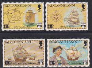 Falkland Islands # 545-548, Discovery of America 500th Anniversary NH, 1/2 Cat.