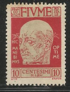 FIUME  87  MNH, NO GUM,  GABRIELE D'ANNUNZIO