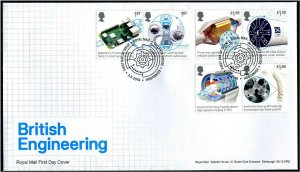 HERRICKSTAMP GREAT BRITAIN Sc.# 3839-44 Engineering First Day Cover Edinburgh