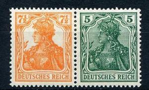 Germany #99b and 85iia se-tenant Mint LH  EUR 180