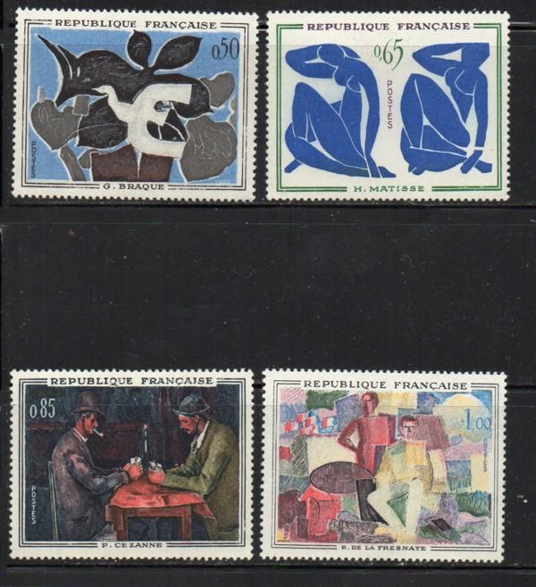 France Sc 1014-7 1961 Paintings stamp set mint NH