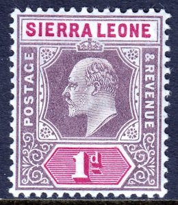 Sierra Leone - Scott #78 - MH - Light crease - SCV $4.50