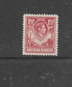 Northern Rhodesia 1938 1 1/2d Carmine red MM SG 29