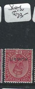KUWAIT   (PP2704B) ON  INDIA KGV   12 A  SG 24       MOG