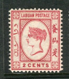LABUAN; 1892-93 classic early issue fine Mint hinged 2c. value