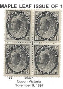 Canada 66 OGNH Very Nice Block Of 4