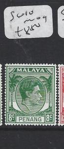 MALAYA PENANG  (P1705B)  8C  KGVI  SG10   MOG