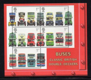 Great Britain Sc 1976b 2001 Buses stamp sheet mint NH