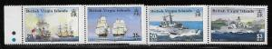 Virgin Islands 984-87 Royal Navy Ships set MNH