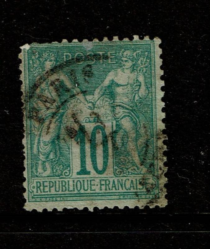France SC# 68, Used, small corner crease - S5006