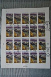 US Stamp Ohio 37 cent mini sheet CTO