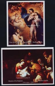 Dominica 1756-7 MNH Christmas, Art, Paintings