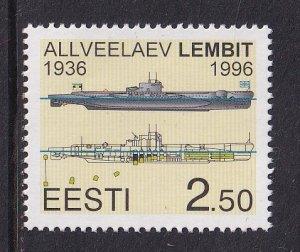 Estonia  #302  MNH 1996  submarine Lembit